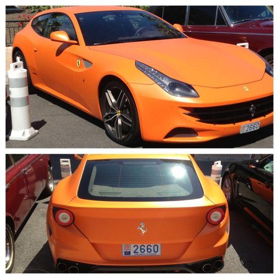 Scorching hot, Orange Ferrari FF!