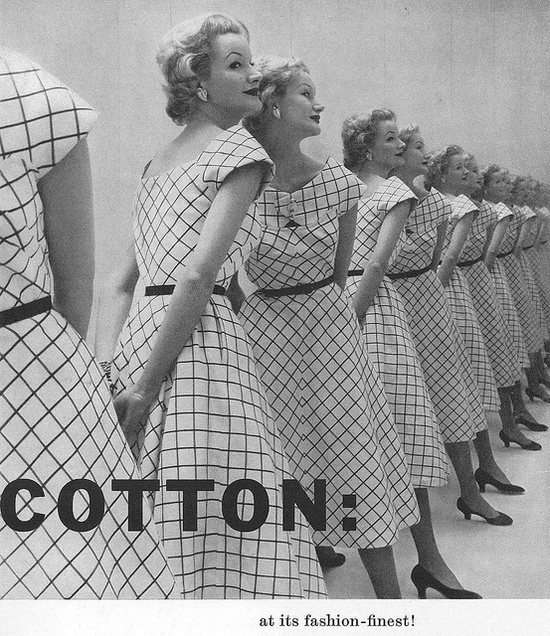 Cotton at its fashion finest! #ad #vintage #fashion #1950s #dress
