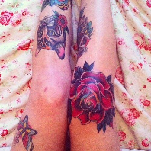 Rose on the knee.This will be happening in the near future!