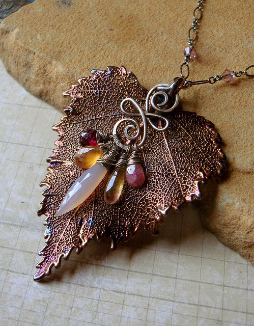 Sylvan Leaves Necklace by sihaya09, via Flickr (inspiration piece)