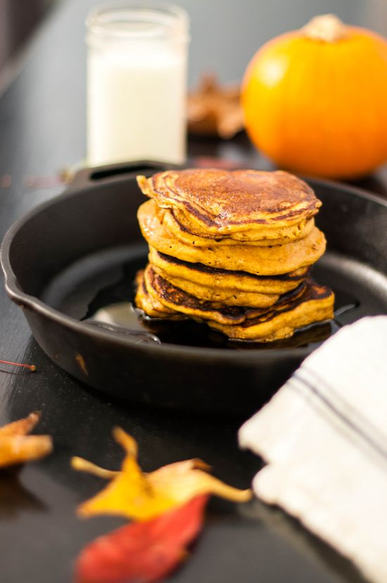 Whole wheat pumpkin pancakes.... what could be better in the morning?