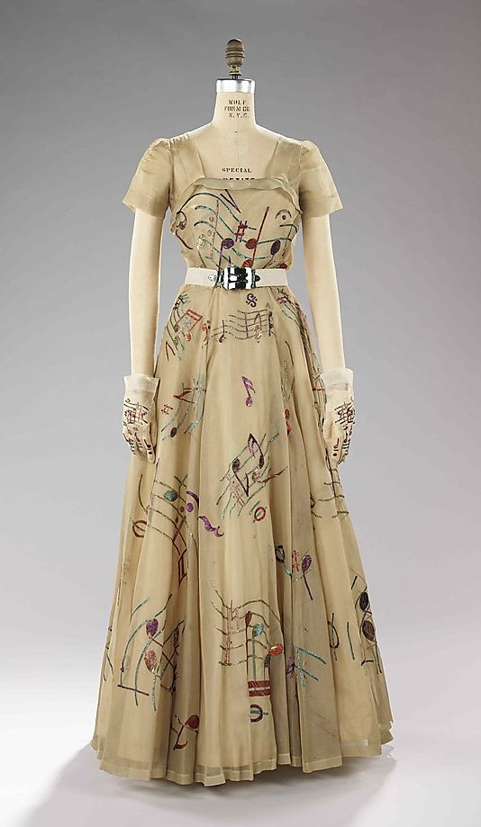 Elsa Schiaparelli evening dress, 1939, from the collection of the Metropolitan Museum of Art