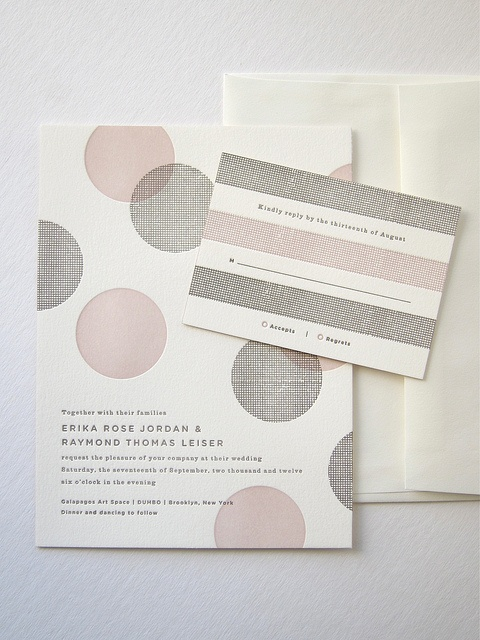 Letterpress Wedding Invitation- love the patterns for different things.