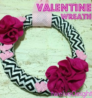 Valentine Wreath-twelveOeight #Valentine #wreath #valentine decor #valentine craft #valentine gift