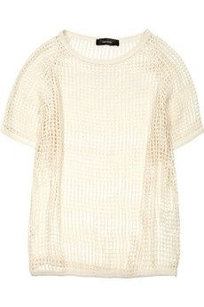 Isabel Marant  Open-weave cotton top would make totally adorable cover #my summer clothes #clothes summer #summer clothes style #cute summer outfits #summer outfits