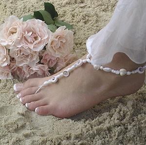 Seashell Wedding Shoes