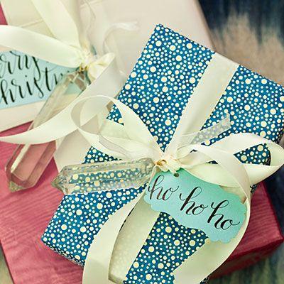 Cute gift wrap ideas!
