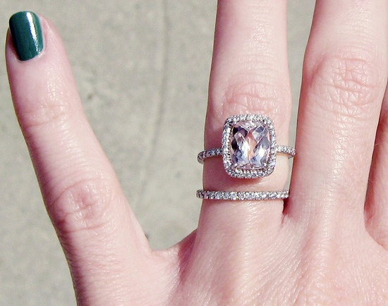 engagement ring with pink stone pave diamonds 10 by ...love Maegan, via Flickr