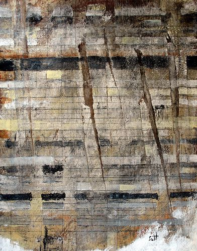 """""""I Belong To Yesterday"""" by Scott Bergey - mixed media on cardboard 2012"""