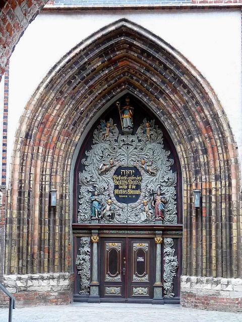 Door in Straslund church