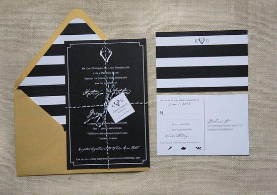 Modern Rustic Antler Wedding Invitations