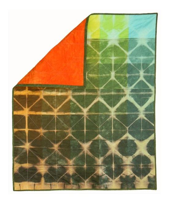 Paint Chip and Shibori Quilt