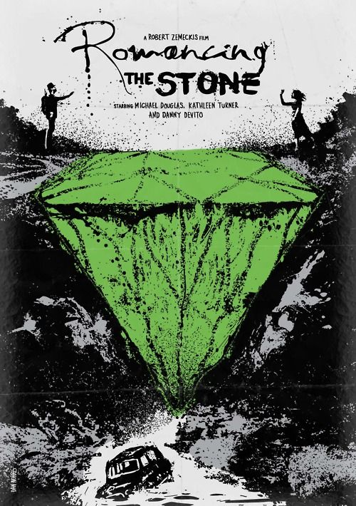 Romancing the Stone minimalist movie poster