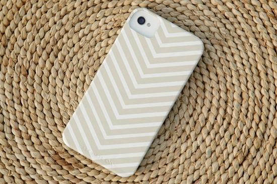 Chevron Stripe iPhone Case in Sand. $37.50, via Etsy.