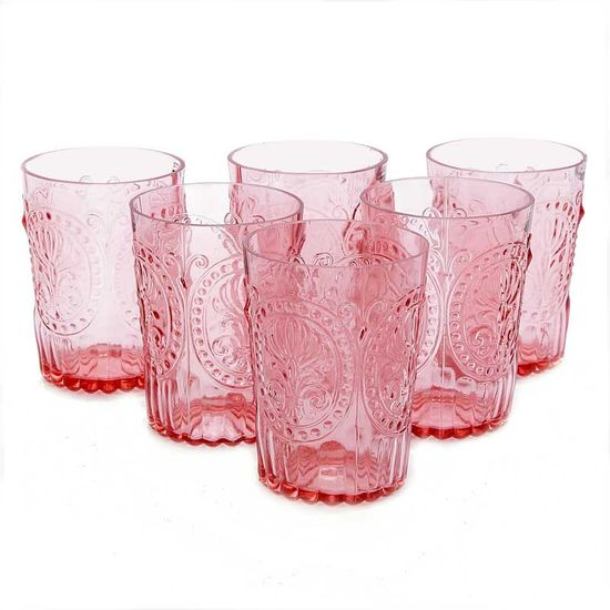 """""""6 Portuguese Handmade Rose Water Glasses"""" beautiful!"""