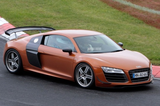 Caught: Updated Audi R8 GT Spied on Track - WOT on Motor Trend