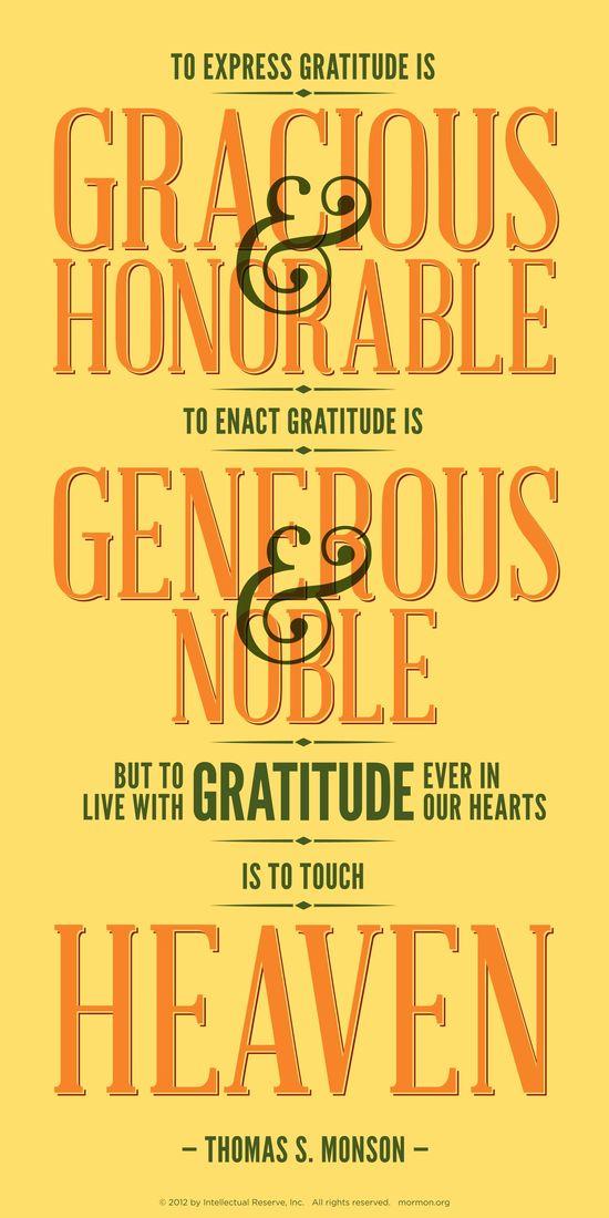 Thomas S. Monson on gratitude
