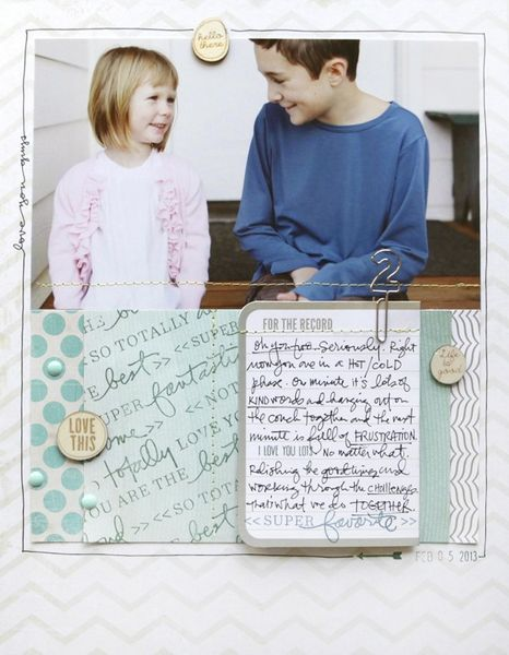#papercraft #scrapbook #layout via TwoPeasInABucket.com