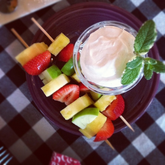 Fruit Kabobs with super simple fruit dip!