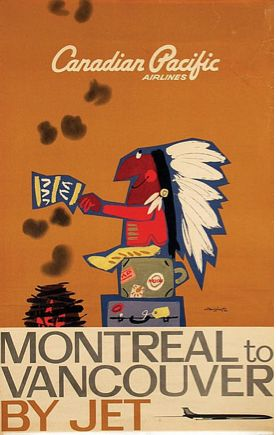 Montreal to Vancouver - Canadian Pacific Airlines