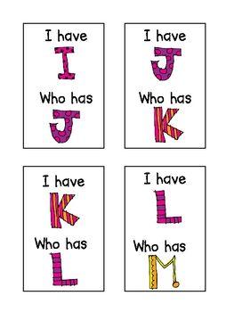 I Have, Who Has ~ Alphabet Edition