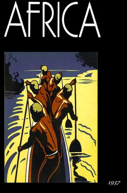 Africa. Vintage Travel Poster.