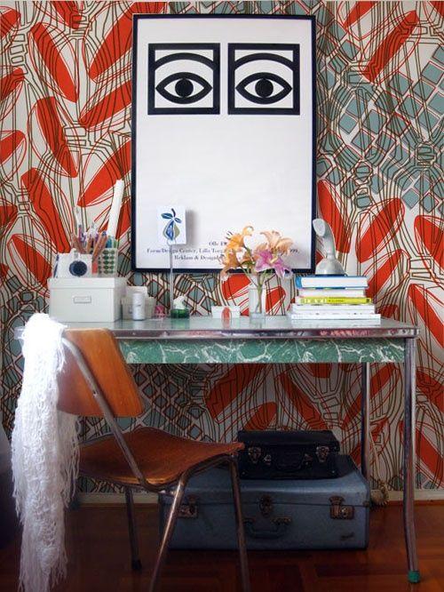 That wallpaper!!