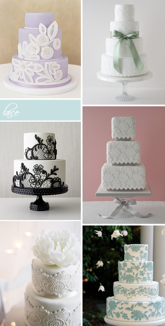 Lace and bows on wedding cakes #elegant #theme #classic