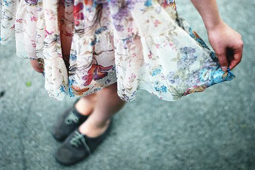 Enjoying your own skirt + shoes = :)