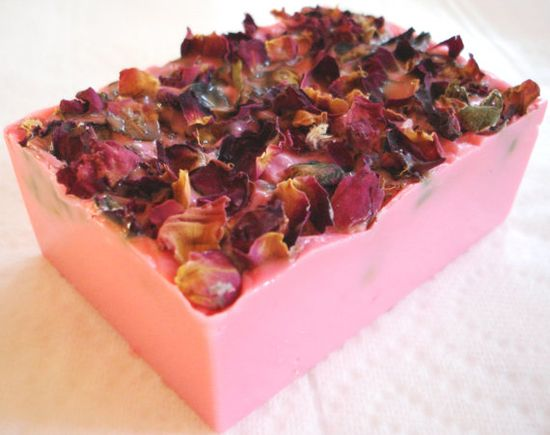 Handmade Soap Shea Butter and Rose Petals One by SoapySweetTreats, $8.99