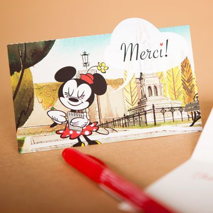 Minnie Mouse Thank You Notes
