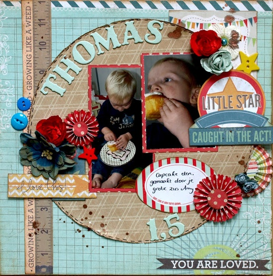 #papercraft #scrapbook #layout Love this layout from #scrapworld using My Sunshine Stack from @DCWV Inc. Inc. Inc. Inc. Inc.!