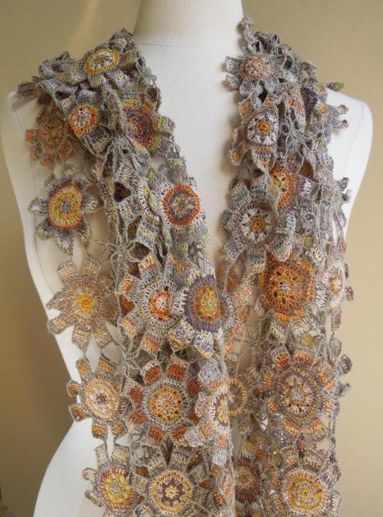 Gorgeous crochet scarf