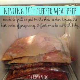 the goad abode: freezer meals