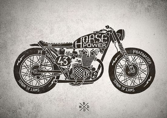 Cafe racer motorcycles by bmd design by MoMA28, via Flickr