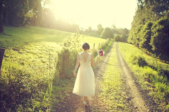 Country bride... how cute.
