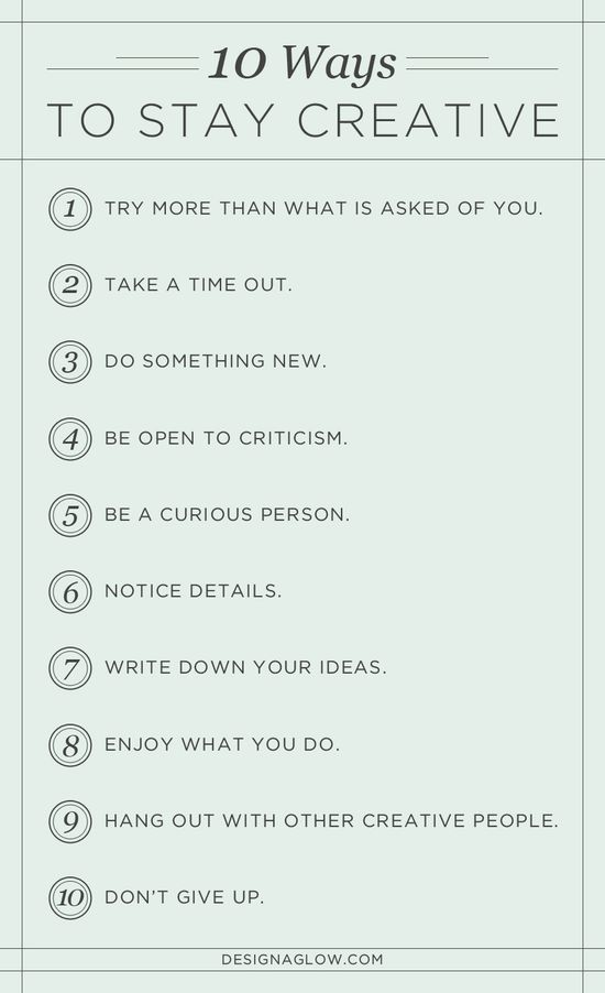 designers diary: 10 ways to stay creative #self personality #soft skills #softskills