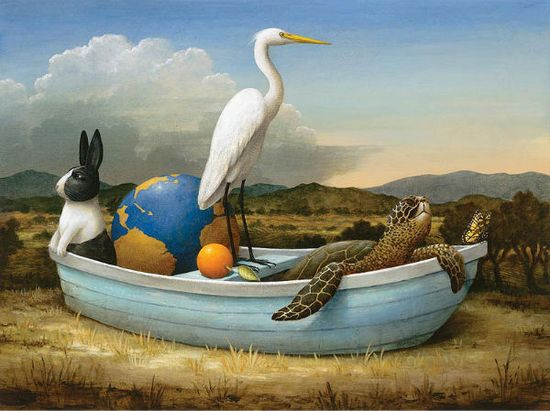 Whimsical paintings (by Kevin Sloan - ?)