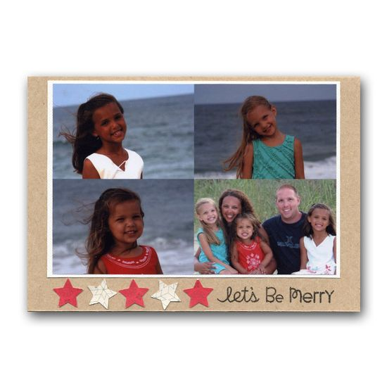 Family Photo Star Punch card