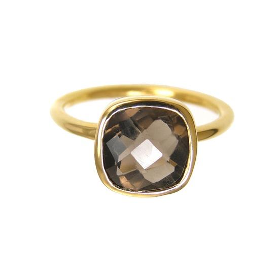 Smoky Quartz Gold ring