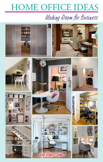 Home Office Design Ideas - great inspiration!