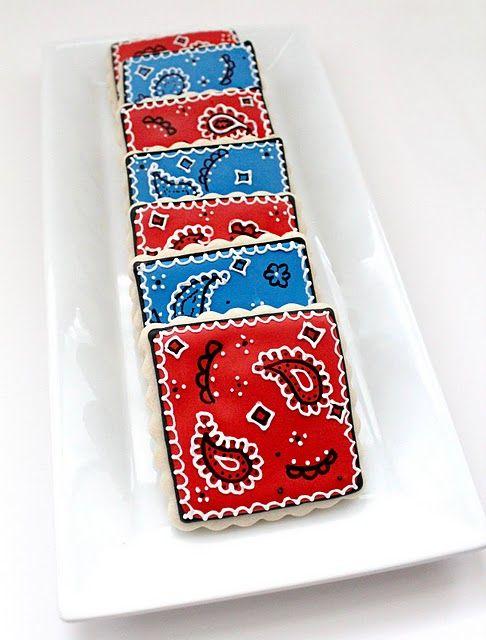 cute bandanna cookies