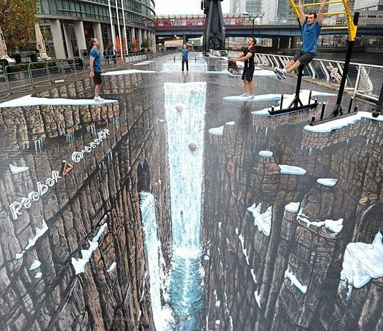 Mind blowing sidewalk art