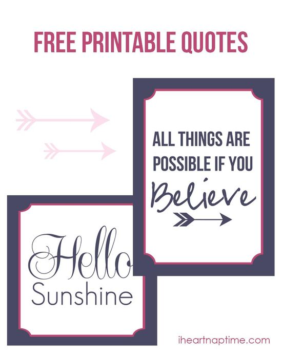 Free printable quotes on iheartnaptime.com