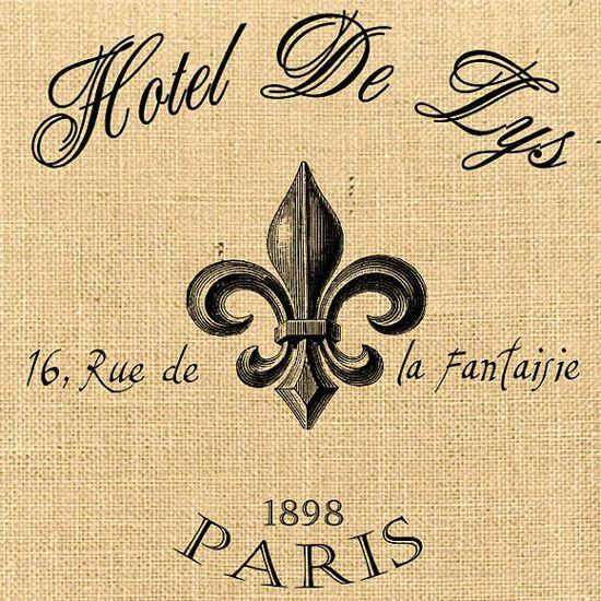 Hotel De Lys advertising vintage large paris france by JLeeloo2, $1.00