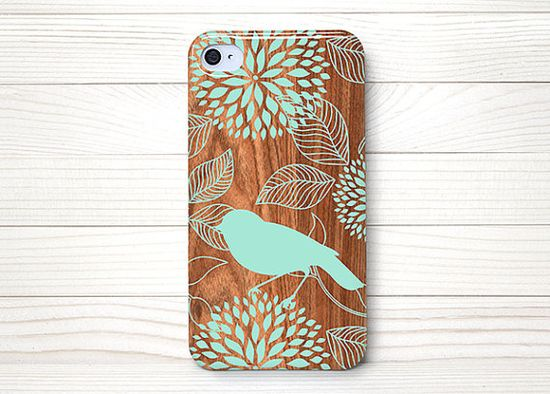 iPhone 4 Case, iPhone 4S Case, iPhone 4 Cases, iPhone 4 Case Wrap Around - Bird on Wood - 171 on Etsy, $15.99