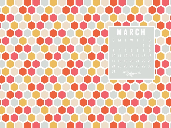 March 2013 Desktop Wallpaper via kellyashworth.com