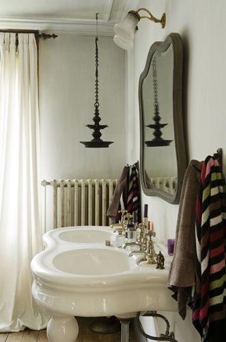 romantic bathroom with double sink