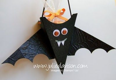 Julie's Stamping Spot -- Stampin' Up! Project Ideas Posted Daily: Petal Cone Bat Box Tutorial