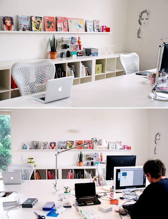 white contemporary office scheme